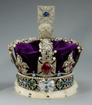 "The Imperial State Crown Featuring the ""Black Prince Ruby"""