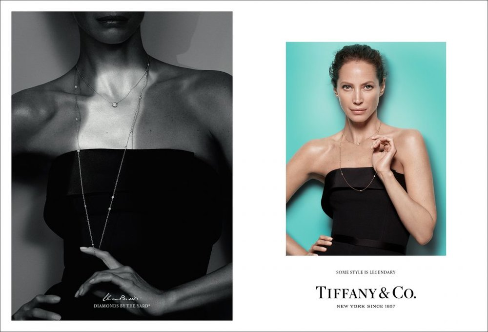 Christy Turlington wears Elsa Peretti® Diamonds by the Yard® necklace