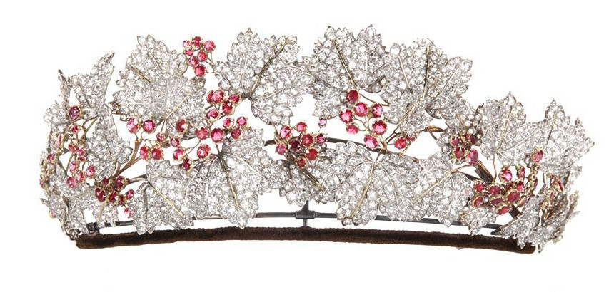 The Dainsh Ruby and Diamond Tiara