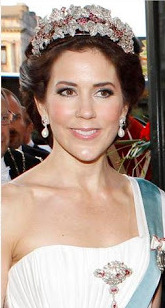 Princess Mary in the ruby Parure after it's alteration