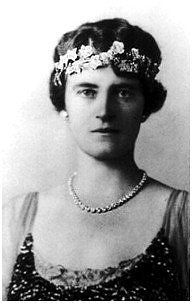 Queen Alexandrine in the ruby tiara