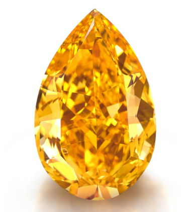 The Orange: 14.82 carat fancy vivid diamond Sold by Christie's for $35.5 million dollars.