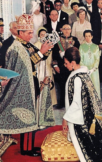 In a move reminiscent of Napoleon and Josephine, Emperor Mohammad Reza Pahlavi crowned his wife, Empress Farah, at their coronation in 1967.