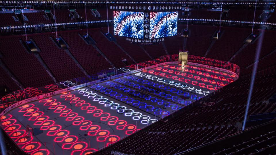 CHC - Ice and laser projection - photo ©Sylvain Mercier