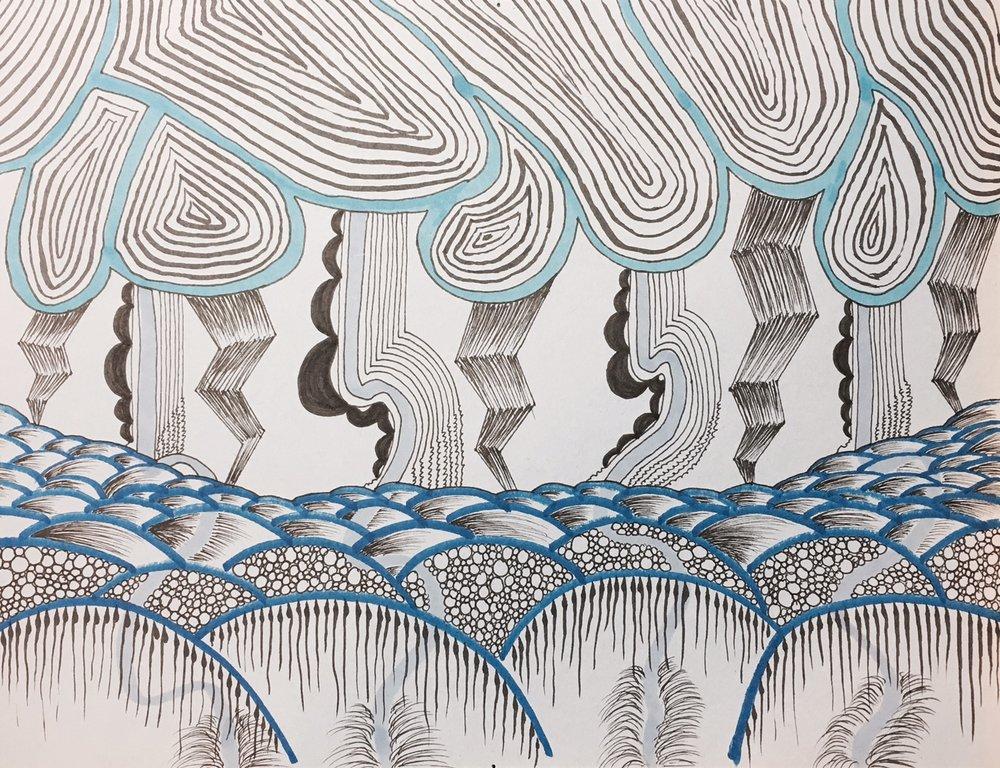 Trio - Blue Detail