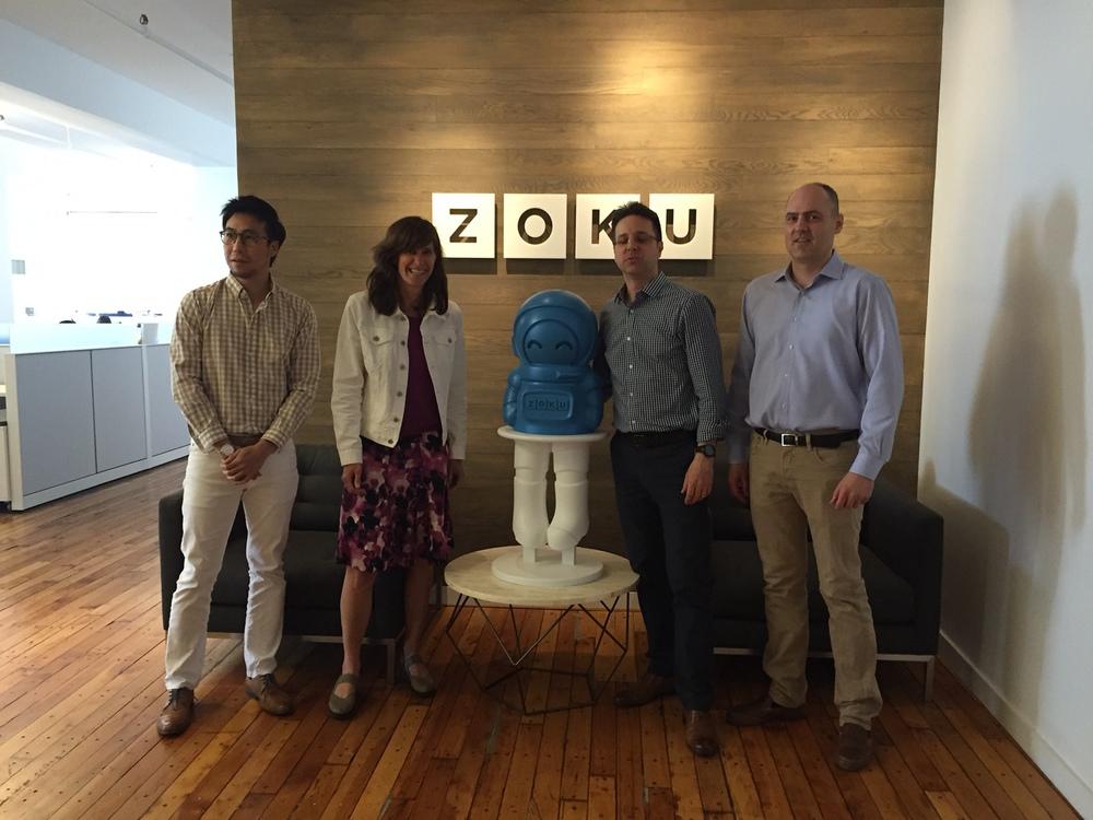 Mayor Zimmer of Hoboken, NJ with the Zoku team