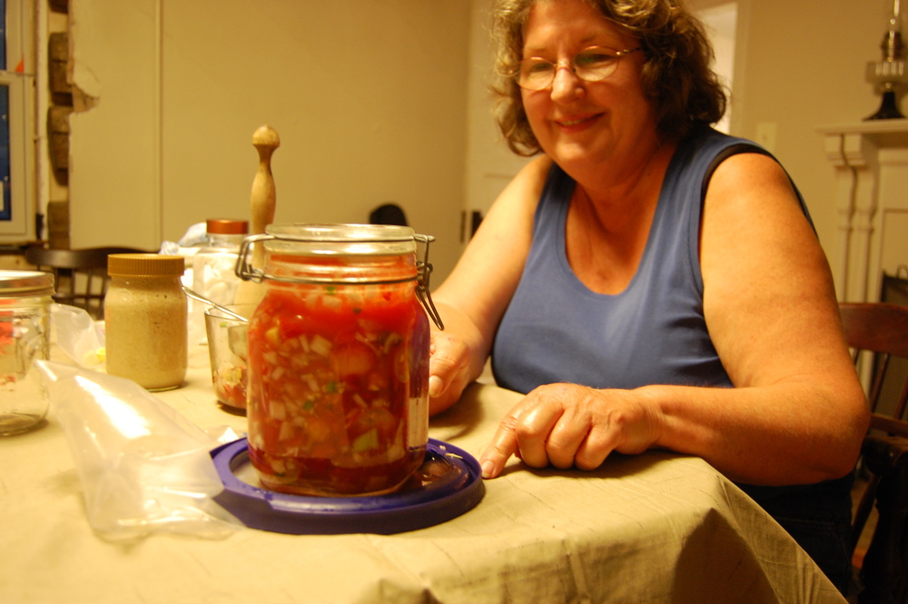 Diane stops by for an evening food preservation lesson