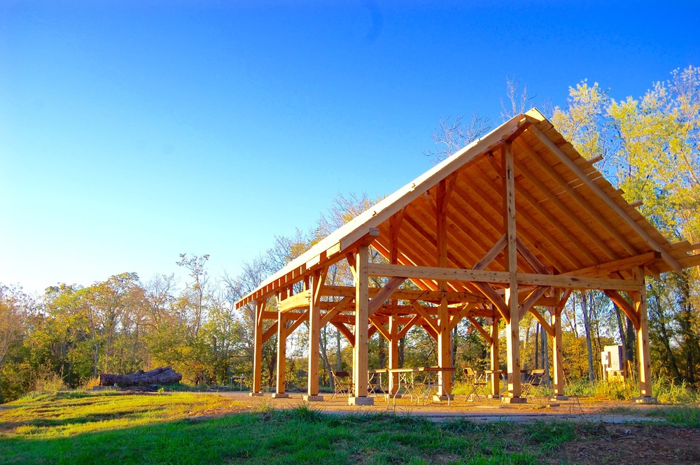 The timber frame pavilion was a perfect setting for many of our inspiring sessions.