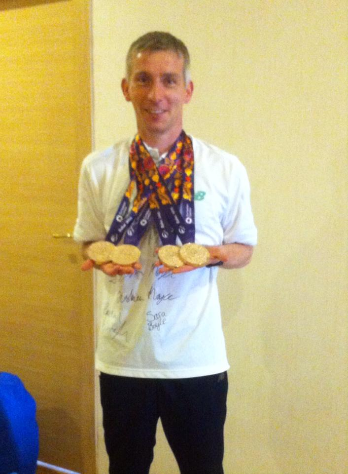 Aidan with the Team Ireland Baku medals