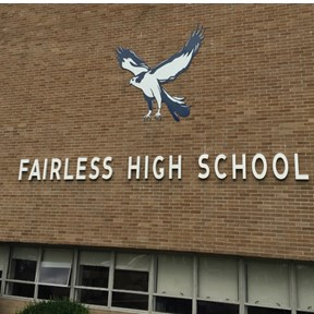 The finished product is now proudly on display at Fairless High School.