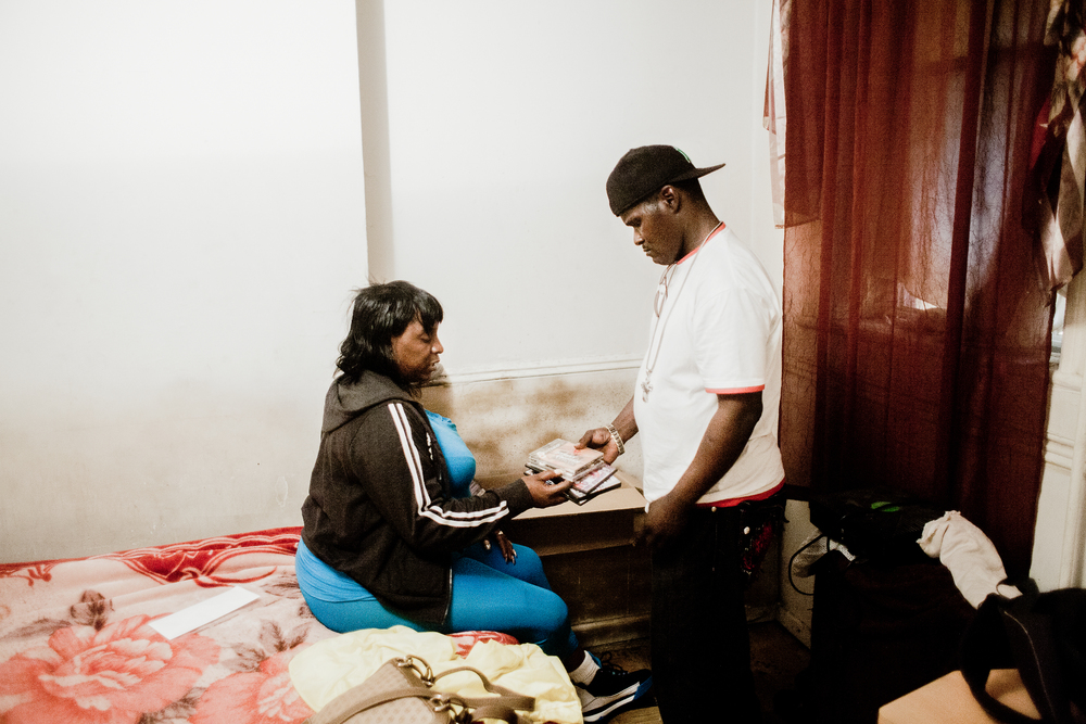 April and Calvin pack up and leave the East New York apartment, 2010.