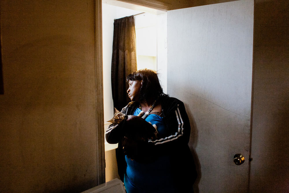 In 2010, NYCHA overestimated the amount of federal funding it would receive for Section 8, and had to revoke thousands of vouchers already allocated to poor families.  April's landlord is facing foreclosure, 2010.