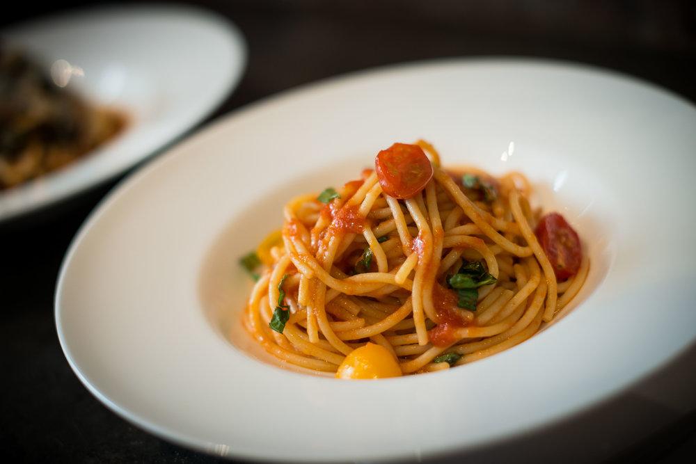 Spaghetti al Pomodoro Dish - Tarallucci e Vino East Village.