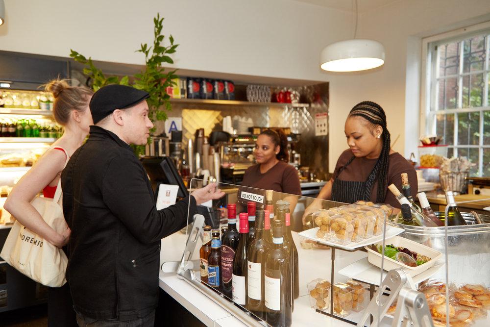 Tarallucci e Vino - Cooper Hewitt Café area.