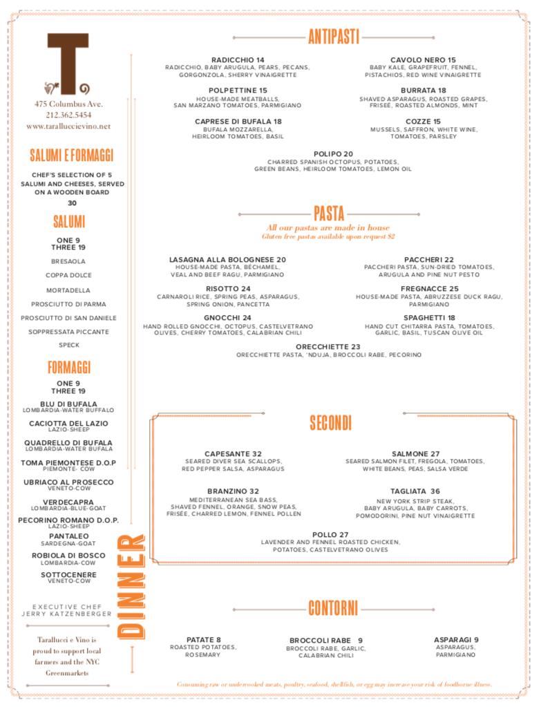 UWS Dinner