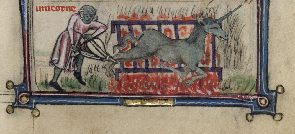 Unicorn, from a  medieval manuscript