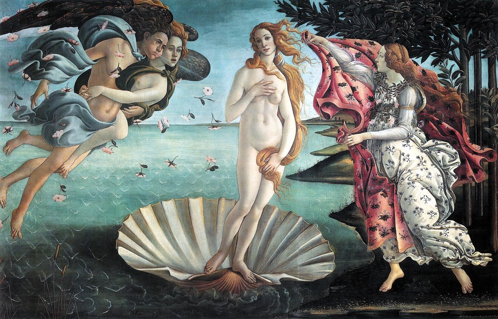 Sandro Boticelli, The Birth of Venus (c. 1486)