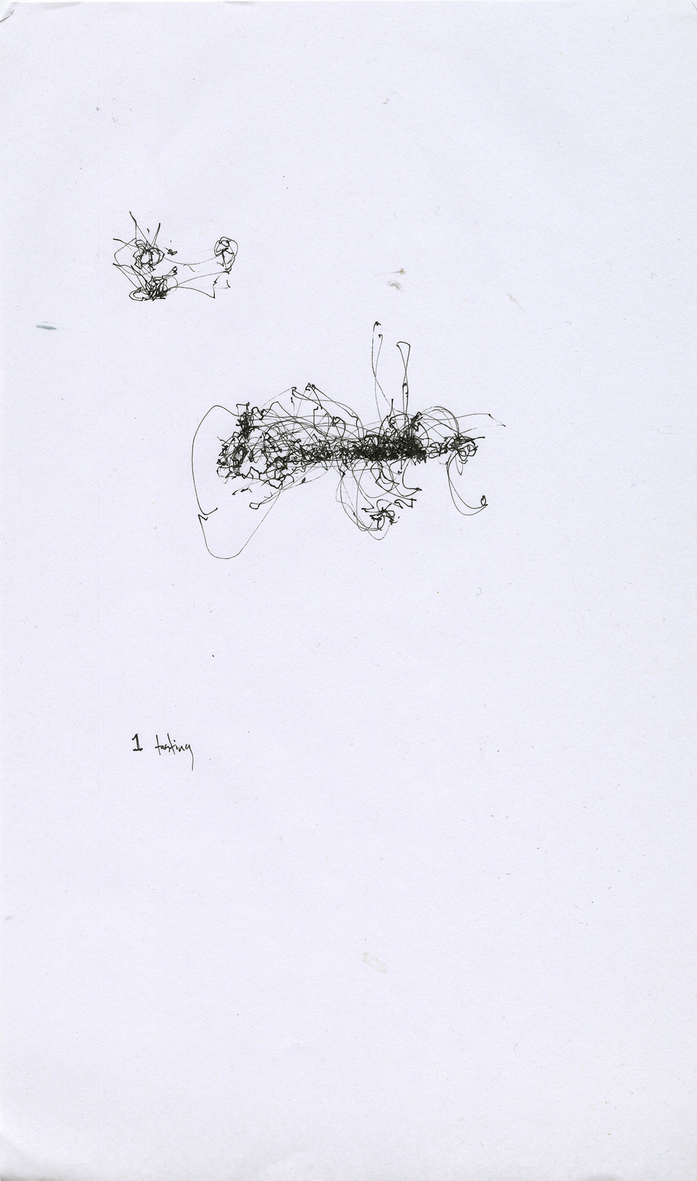 Kinetic mapping in the style of Deligny (I/II) , ink on paper, 8.5 x 13 in., Castagna Restaurant, Portland OR (2015)