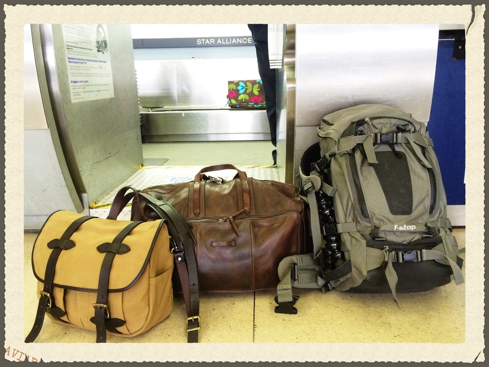 (From left to right)  Filson Fieldbag ,  REVISIT Washburn Weekender Bag  and  FStop Tilopa BC