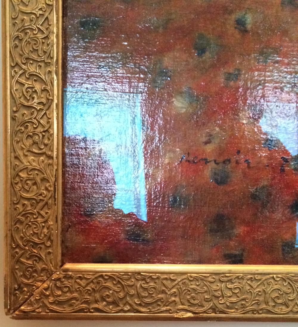 фрагмент рамы - Ренуар-портрет актрисы Жанны Самари