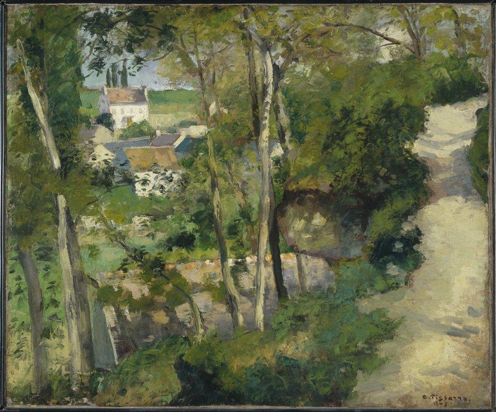 Camille Pissarro The Climb, Rue de la Côte-du-Jalet, Pontoise (Chemin montant, rue de la Côte-du-Jalet, Pontoise)
