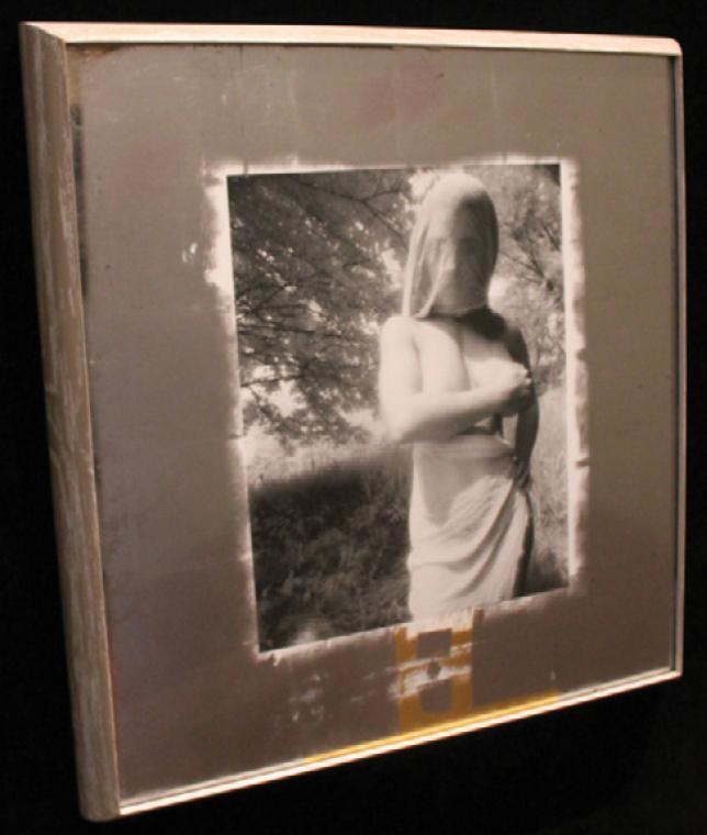 """Рис.5 Джоан Розенштейн """"Сохраняя Terra Incognita"""", серебрянная печать. Рама является реплликой профиля Джорджиа О'Киф, которые она использовала для своих работ"""