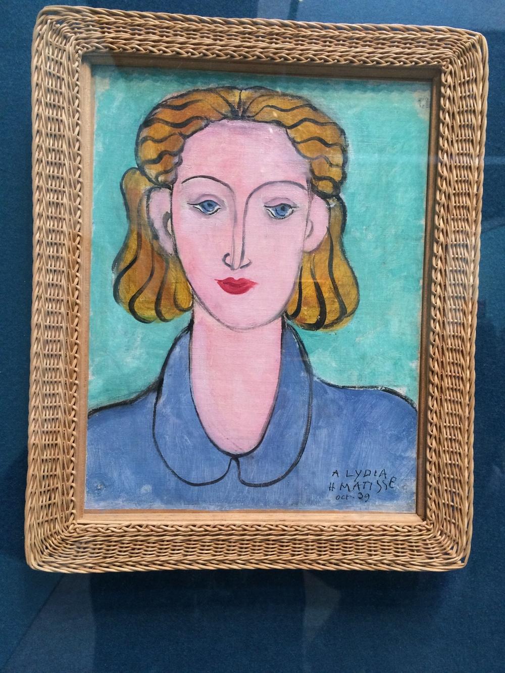 """Рис. 1аАнри Матисс """"Молодая женщина в синей блузке"""""""