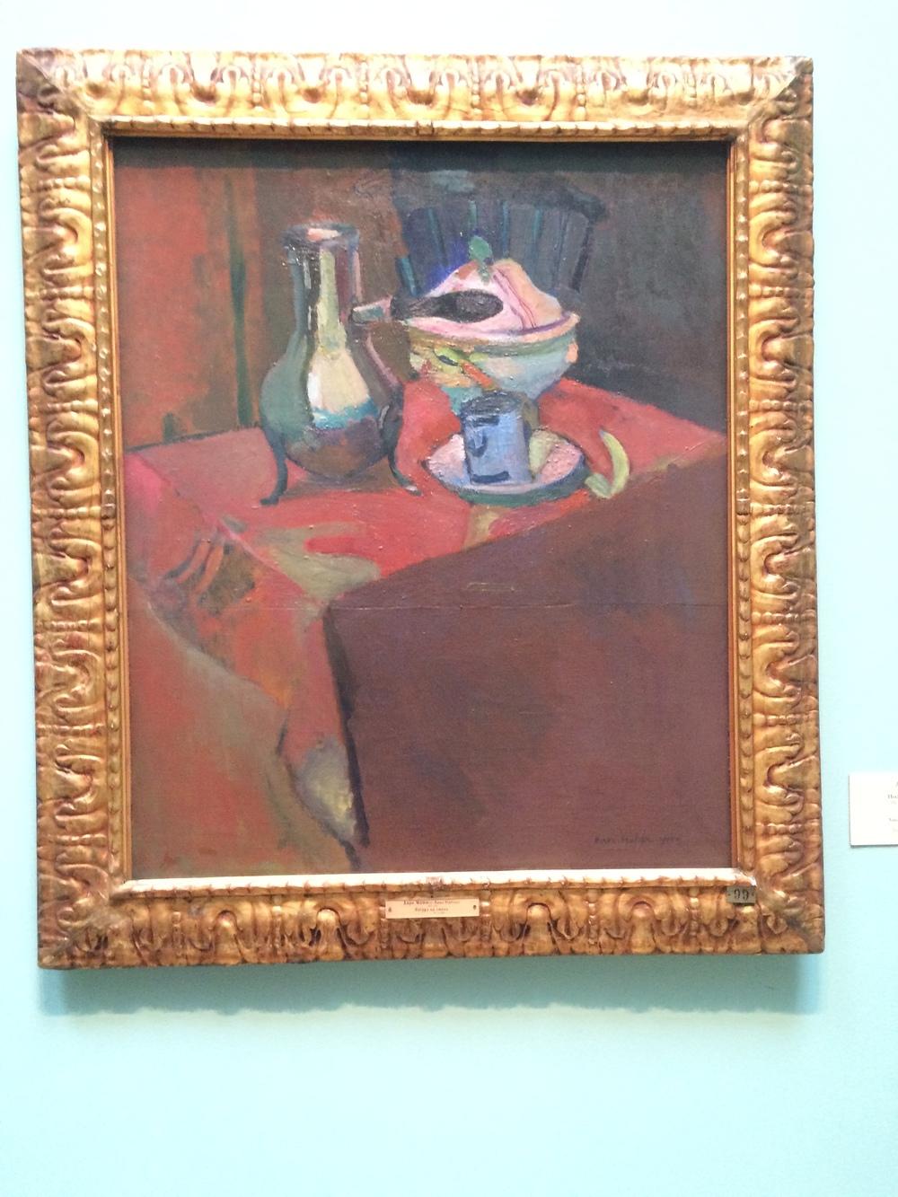 """Рис.3а Анри Матисс """"Посуда на столе"""", 1900"""