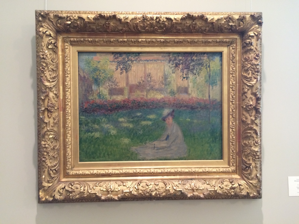 "Рис.9аКлод Мане ""Женщина, сидящая в саду"", 1876"