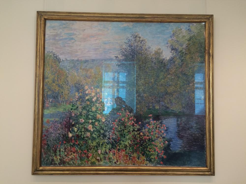 """Рис.14а Клод Мане """"Уголок сада в Монжероне"""", 1876"""
