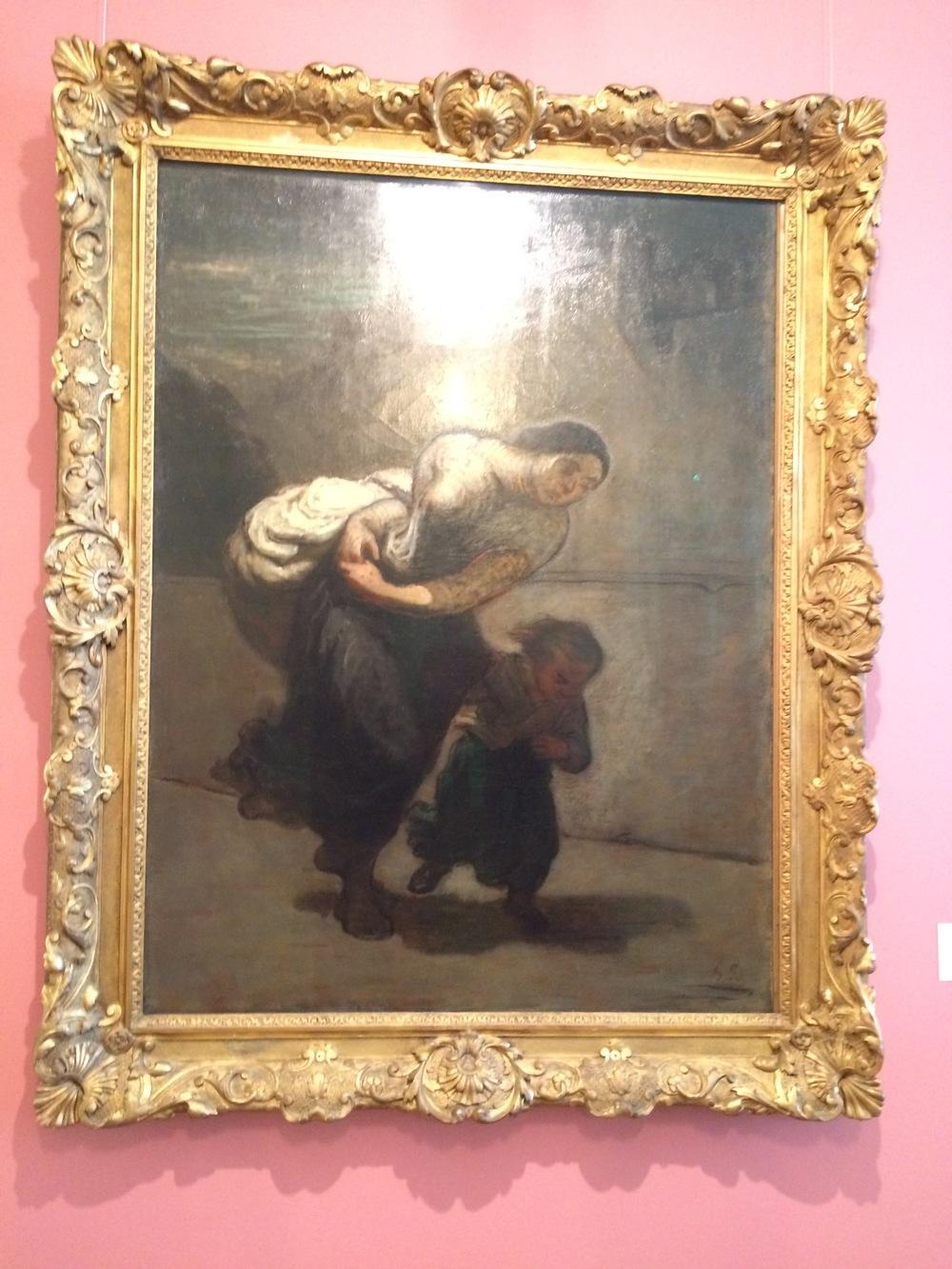 """Рис.17аОноре Домье """"Ноша (Прачка)"""" 1850-1853"""