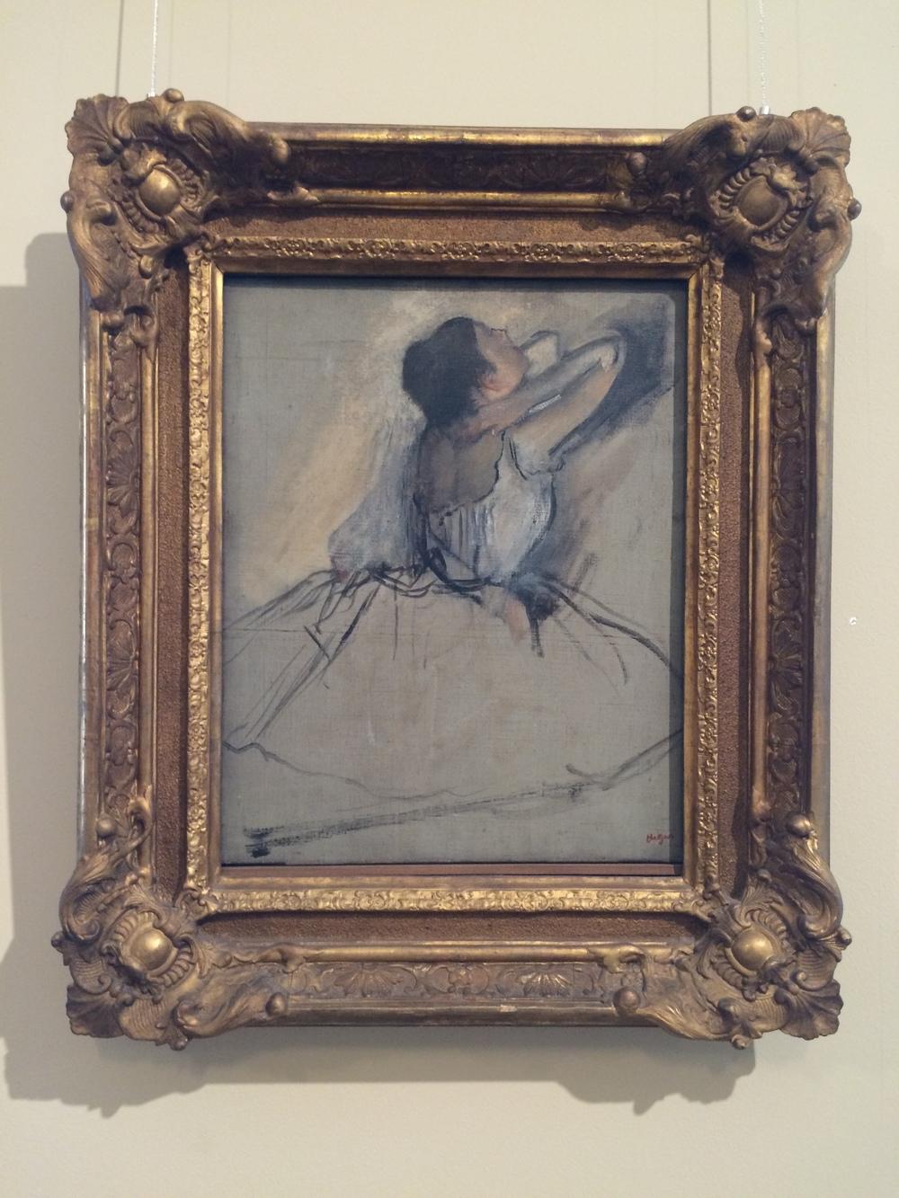 """Рис.20аЭдгар Дега """"Танцовщица"""", ок.1874"""