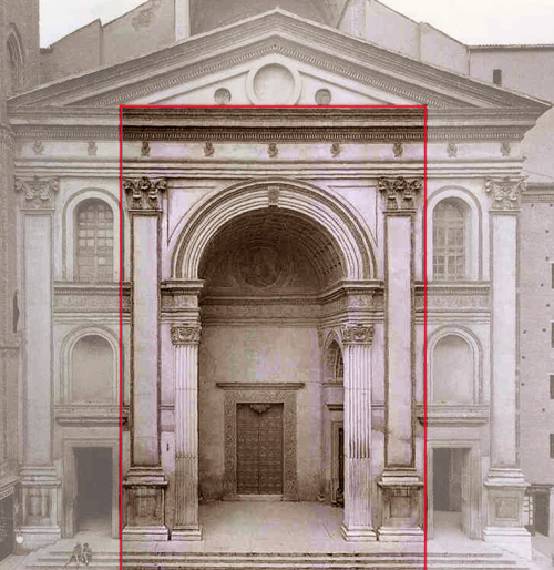 Рис.9 Базилика Сант-Андреа в Мантуя