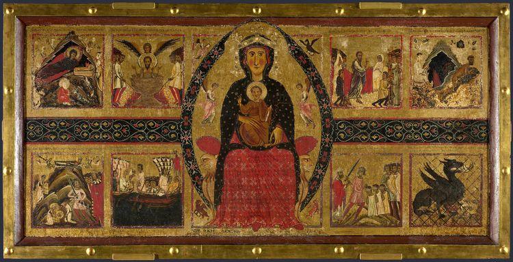 Рис.1 Маргаритоне д'Ареццо «Мадонна с младенцем на троне»