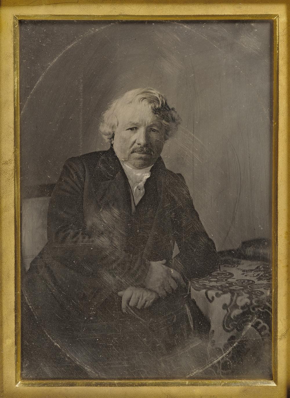 """Рис.13 . Charles Richard Meade """"Портрет Луи́ Жак Манде́ Даге́ра"""", 1848 г."""