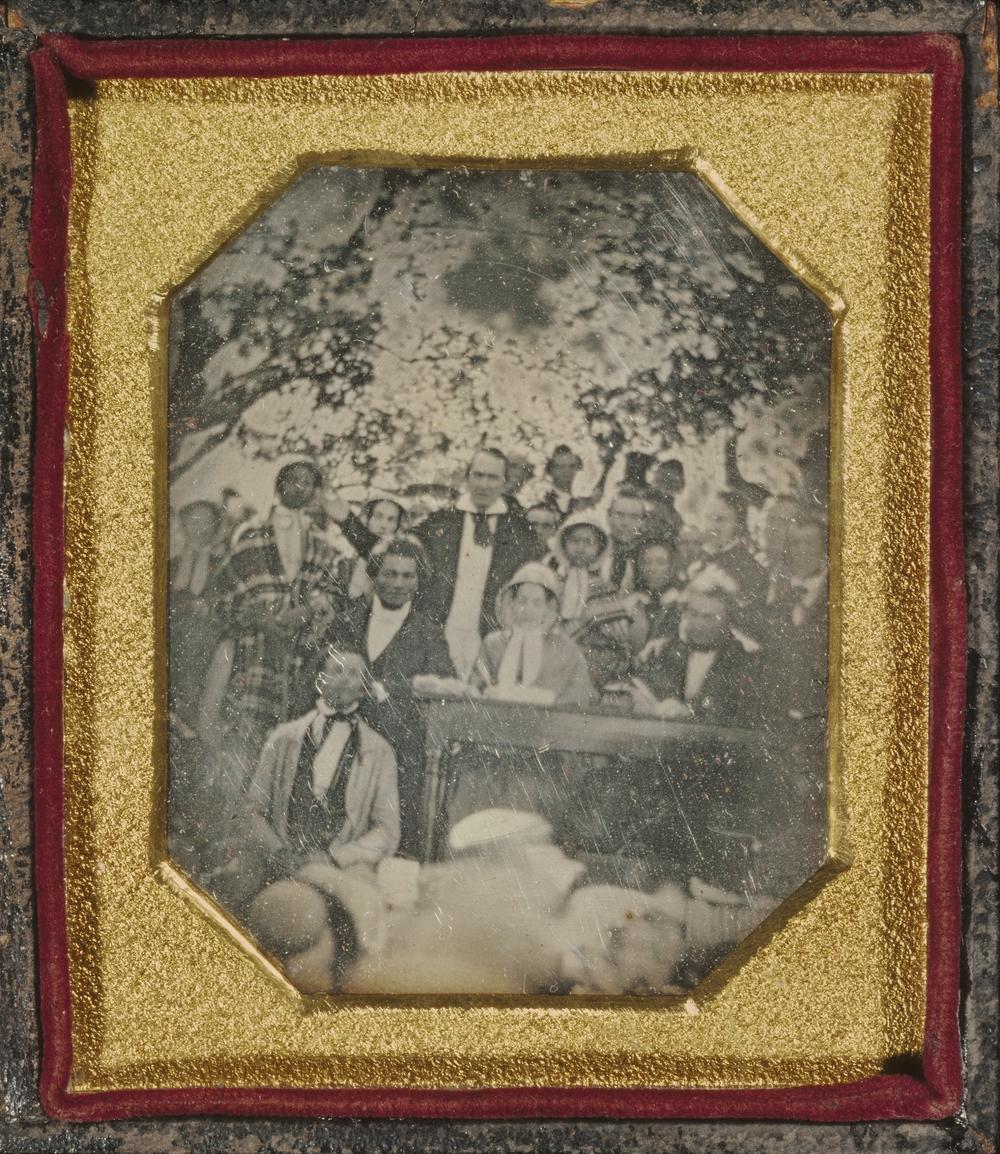 """Рис.22 Ezra Greenleaf Weld """"Собрание против введения""""Закона о беглых рабах, Казеновия, Нью-Йорк"""", 22 августа 1850 г."""