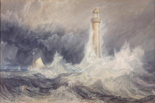 """Рис.1 Джозеф Мэллорд Уильям Тёрнер """"Маяк Белл Рок"""", 1819"""