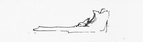 """Рис.2 Тёрнер, Эскиз профиля рамы для картины """"Маяк Белл Рок"""", 1819"""