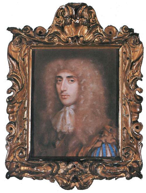 "Рис.2 Эдмунд Эшфилд "" Сэр Джеймс Оксенден "" (1674). Рама Сандерлэнд, возможно сделанаМэри Эшфилд"