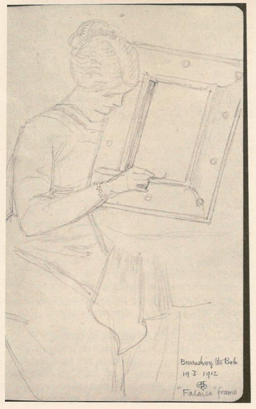"""Рис.3 Джозеф Соутхалл """" м-с Джозеф Соутхалл """"Полирование болюса """" (1912)"""