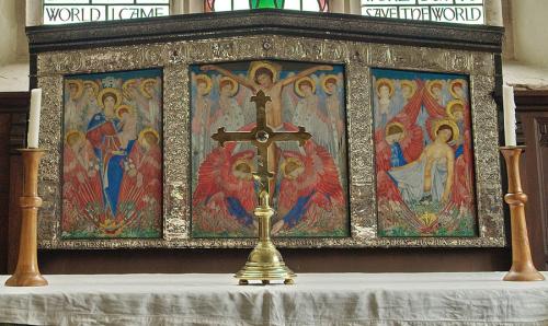 Рис.4 Кейт Банс, запрестольная перегородка церкви святой Марии (1904), рама Миры Банс.
