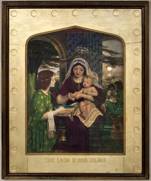 """Рис.8 Форд Мэдокс Браун """"Богоматерь послушных детей""""1847-61"""
