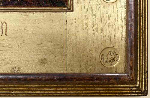 """Рис.9 Форд Мэдокс Браун """"Богоматерь послушных детей"""", фрагмент нижнего правого угла"""