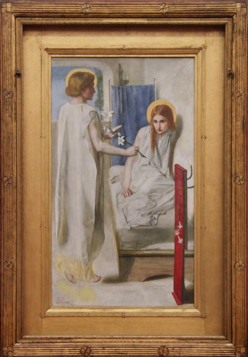 """Рис.12 Данте Габриель Россетти """"Ecce ancilla domini!"""" (1849-50)"""