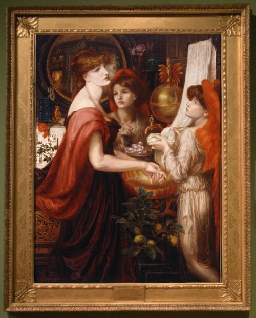 """Рис.14 Россетти """"La bello mano"""" (1875)"""