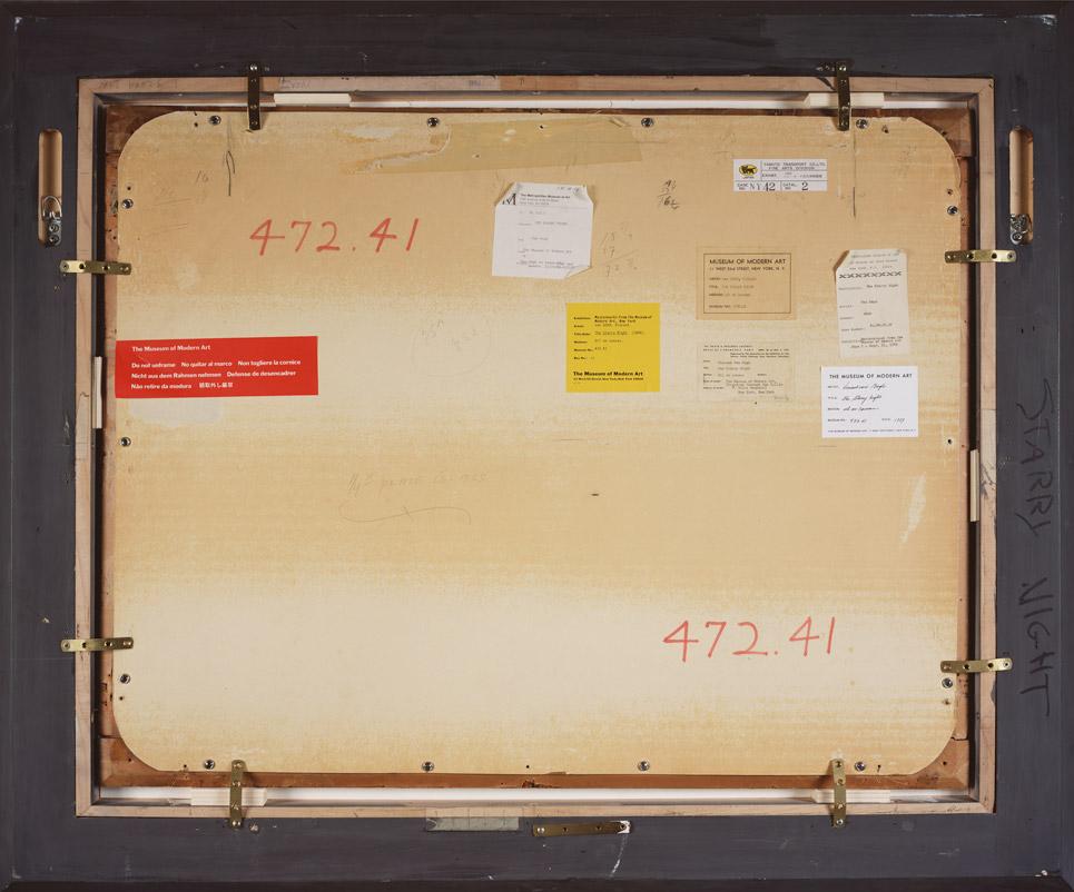"""Рис.1 Вик Мунис,Обратная сторона картины Ван Гога """"Звездная ночь"""""""
