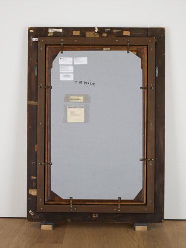 """Рис.3 Вик Мунис,Обратная сторона картины Пабло Пикассо """"Женщина за глажкой"""""""