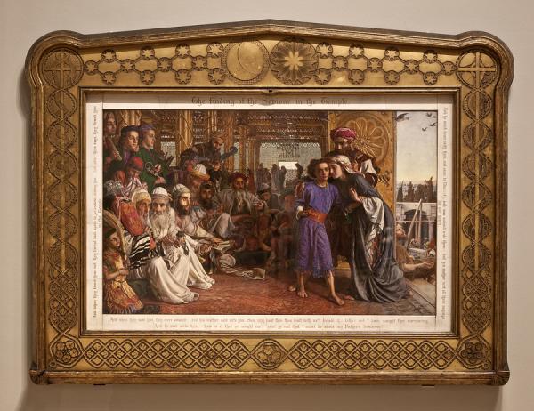 "Рис.15 Холман Хант ""Нахождение спасителя в храме"", 1854-55"