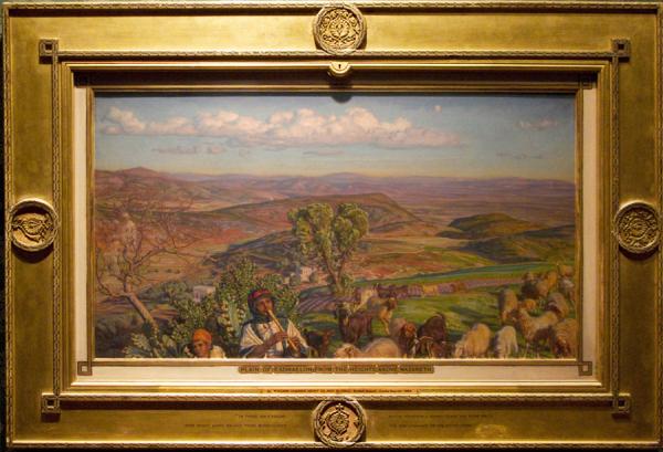 """Рис.17 Уильям Холман Хант """"Равнина Эсдралон с холмов близ Назарета"""""""