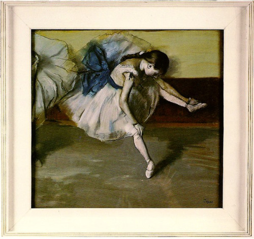 """Рис.1 Эдгар Дега """"Отдыхающая танцовщица"""", 1879, в оригинальной раме Дега"""